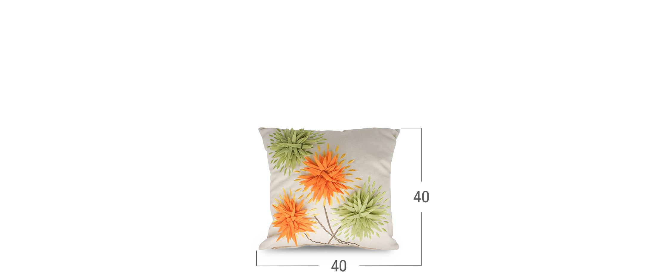 Подушка декоративная Хризантема 4010