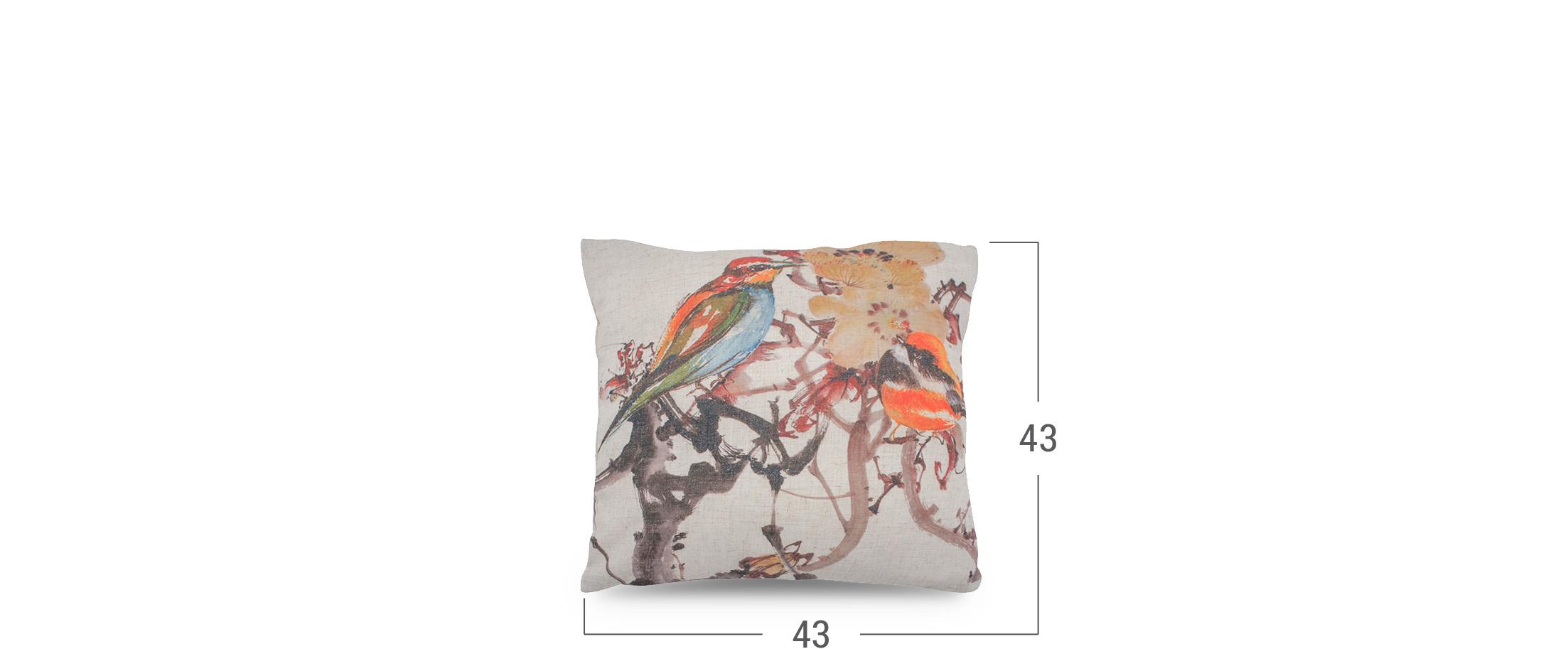 Подушка декоративная Птицы 4010